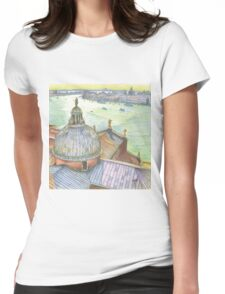 VENICE. View to Grand Canal from Basilica Di San Giorgio Maggiore.  Womens Fitted T-Shirt