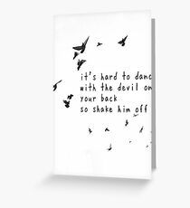 Florence and The Machine - Shake It Out Greeting Card