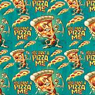 You Wanna Pizza Me Pattern by MudgeStudios