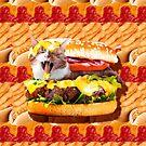 Burger Cat On Cheeseburger by SkylerJHill