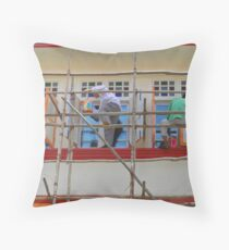 Singapore - Bamboo scaffold Throw Pillow
