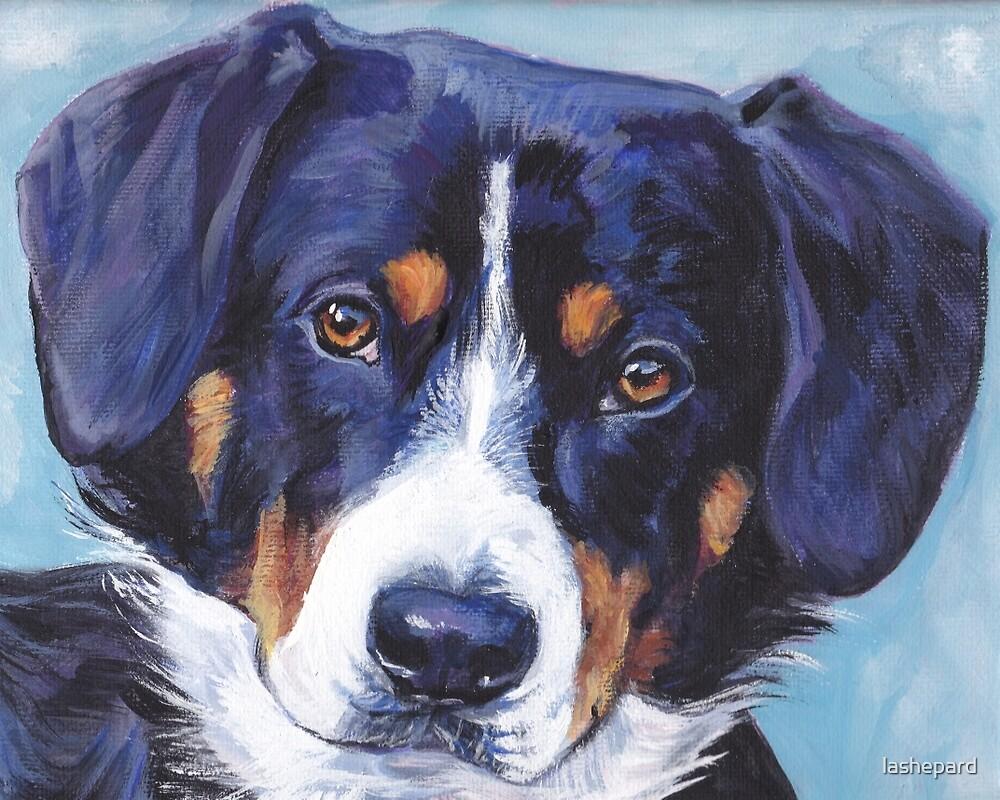 Entlebucher Mountain Dog Fine Art Painting by lashepard