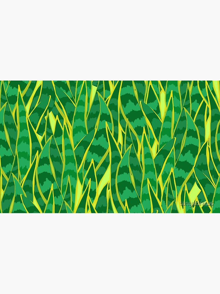 Snake Plant Jungle by tanyadraws