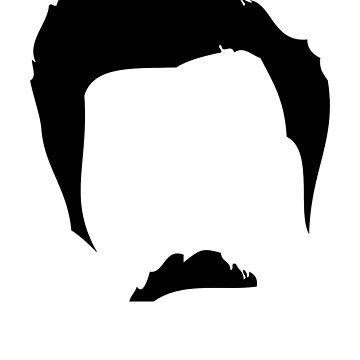 Swanson Moustache Man de astropop
