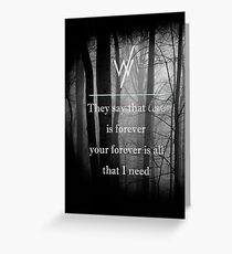 sleeping with sirens Greeting Card