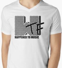 WTF Happened To Music Men's V-Neck T-Shirt