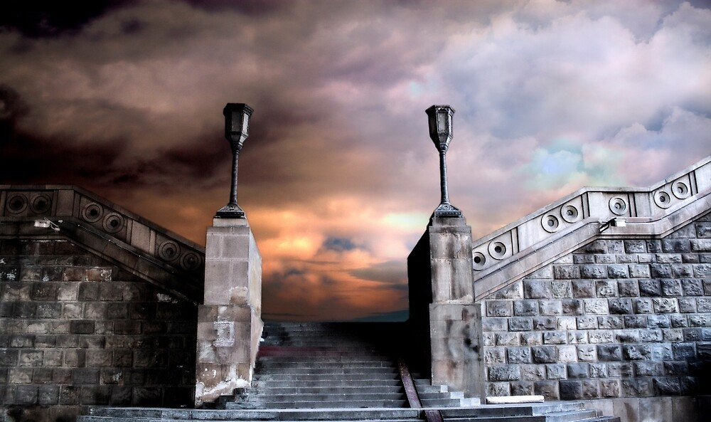 Stairway to somewhere by Aleksandra Boskovic
