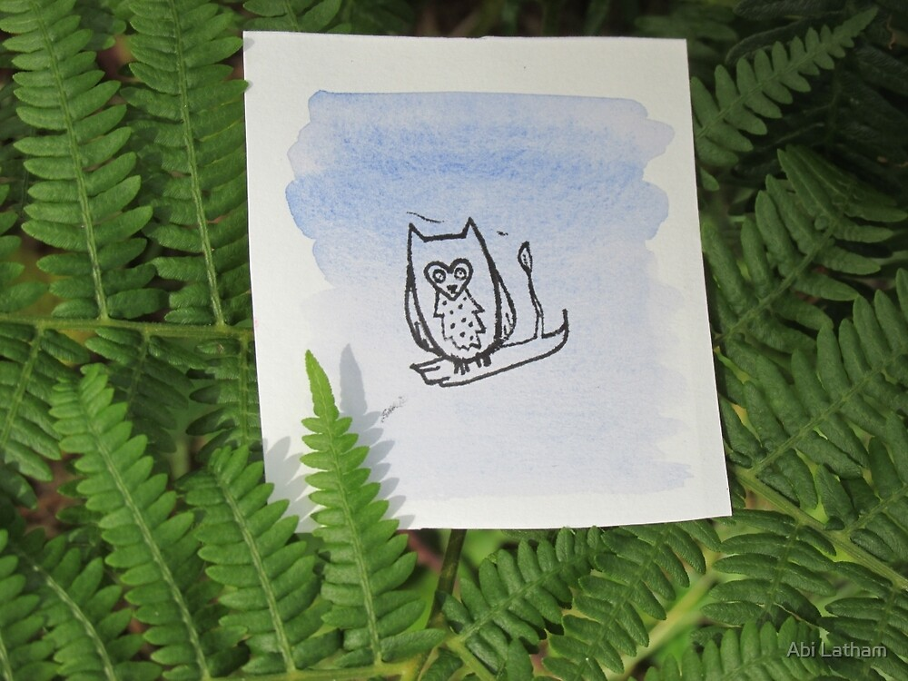 Little owl painting by Abi Latham