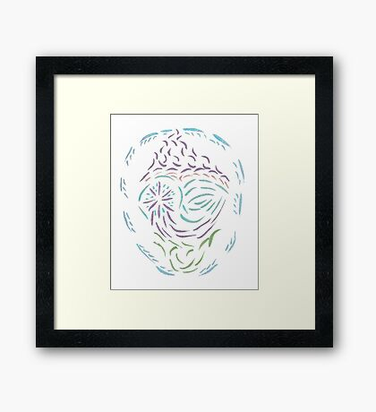 Comet Mandala Framed Print