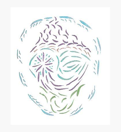 Comet Mandala Photographic Print