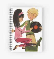 Kids Vinyl Record Love Spiral Notebook