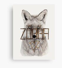 Beautiful & Corrupted Fox Canvas Print