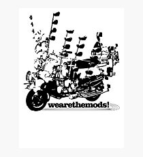 We Are The Mods Vespa Scooter Photographic Print
