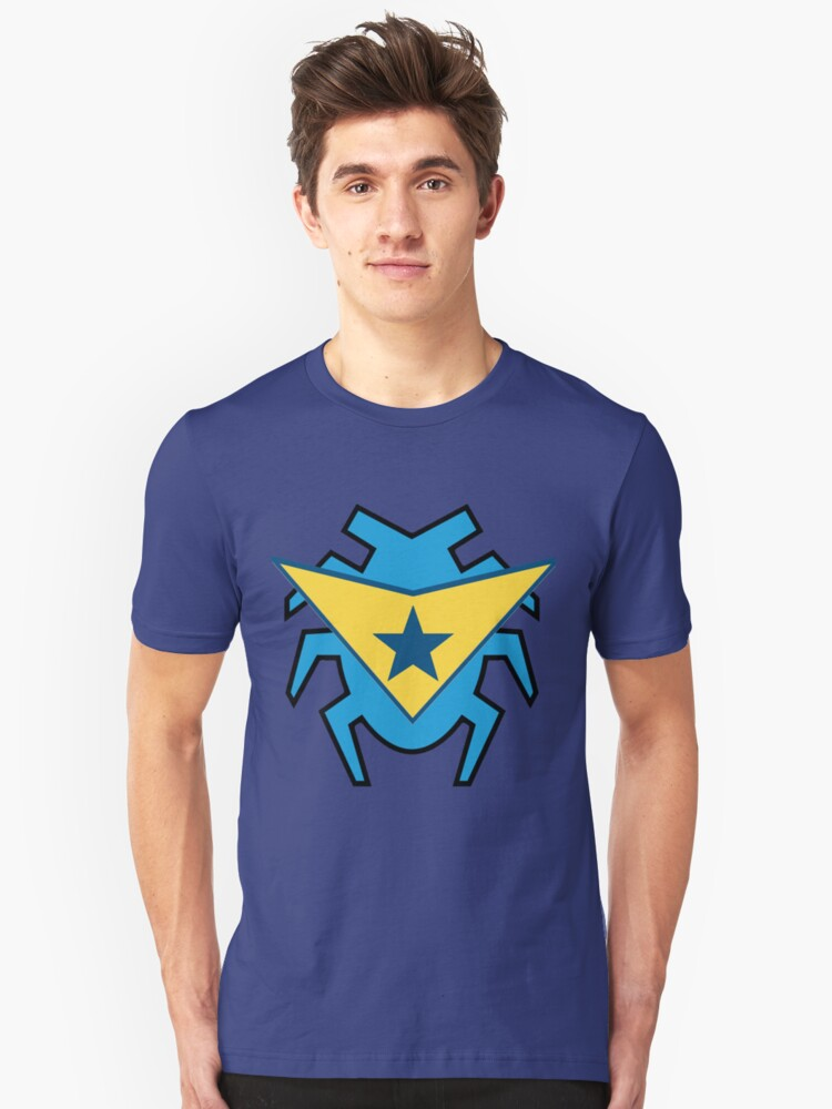 Blue Beetle and Booster Gold Unisex T-Shirt Front