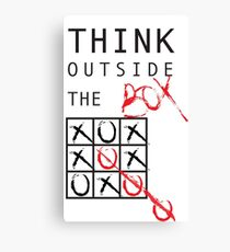 THINK OUTSIDE THE BOX Canvas Print