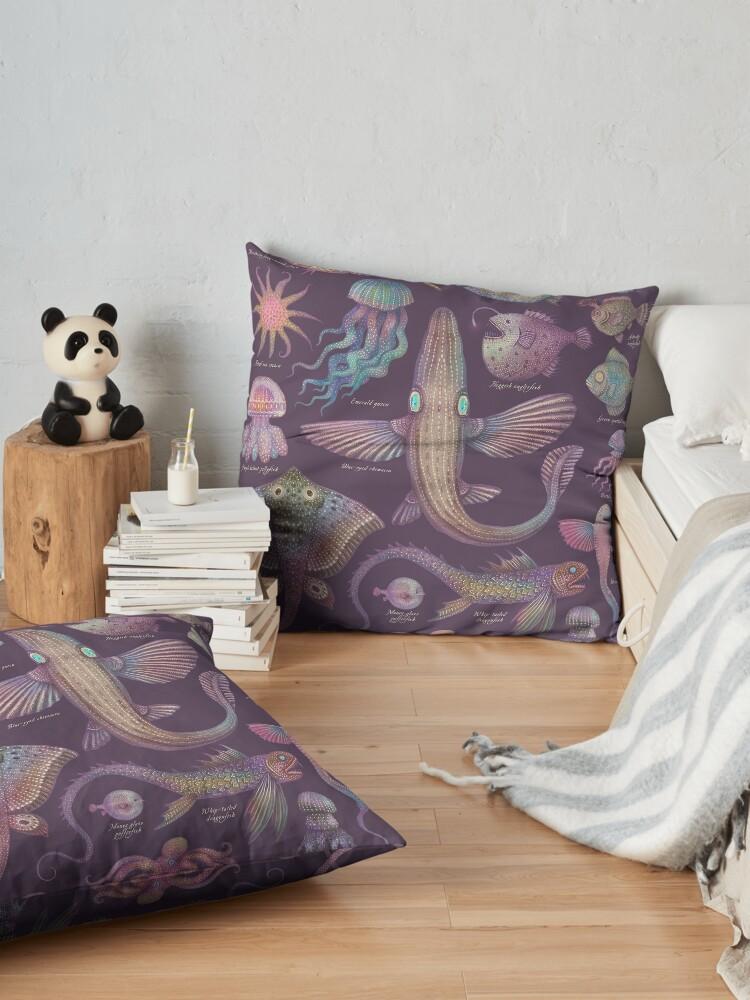 Alternate view of Sea life specimens III Floor Pillow