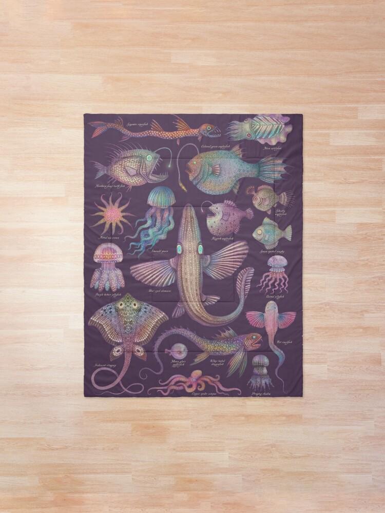 Alternate view of Sea life specimens III Comforter