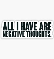 Joker Negative Thoughts Sticker