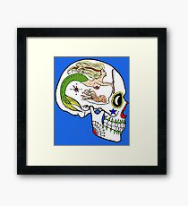 Navy AD - Day of the Dead Skull Framed Print