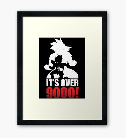 Over 9000 Framed Print