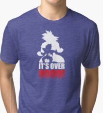 Over 9000 Tri-blend T-Shirt