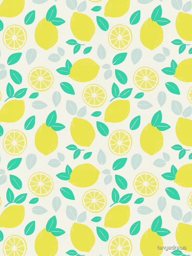 Summer Lemon Pattern by tanyadraws