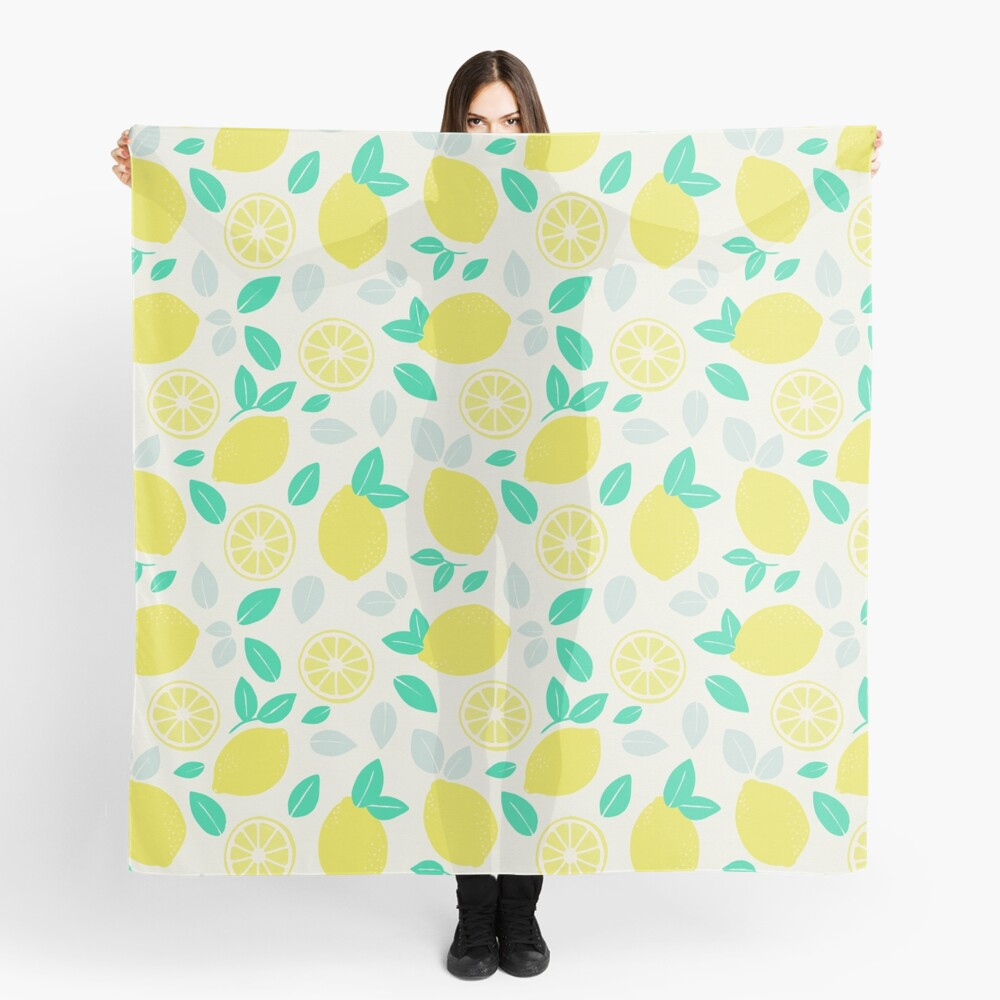 Summer Lemon Pattern Scarf