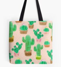 Potted Cactus & Pink Drawing Tote Bag