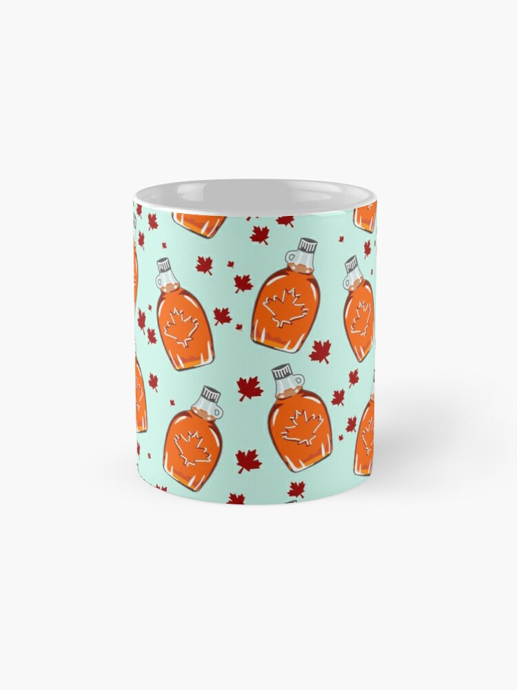 Alternate view of Super Canadian Maple Syrup Pattern Mug