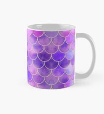 Ultra Violet & Gold Mermaid Scale Pattern Classic Mug