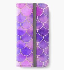 Ultra Violet & Gold Mermaid Scale Pattern iPhone Wallet/Case/Skin