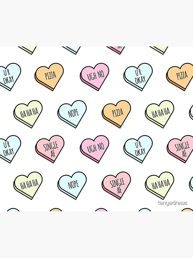 Sassy & Sarcastic Candy Heart Pattern by tanyadraws