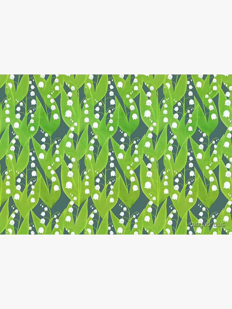 Lily of the Valley Floral Pattern by tanyadraws