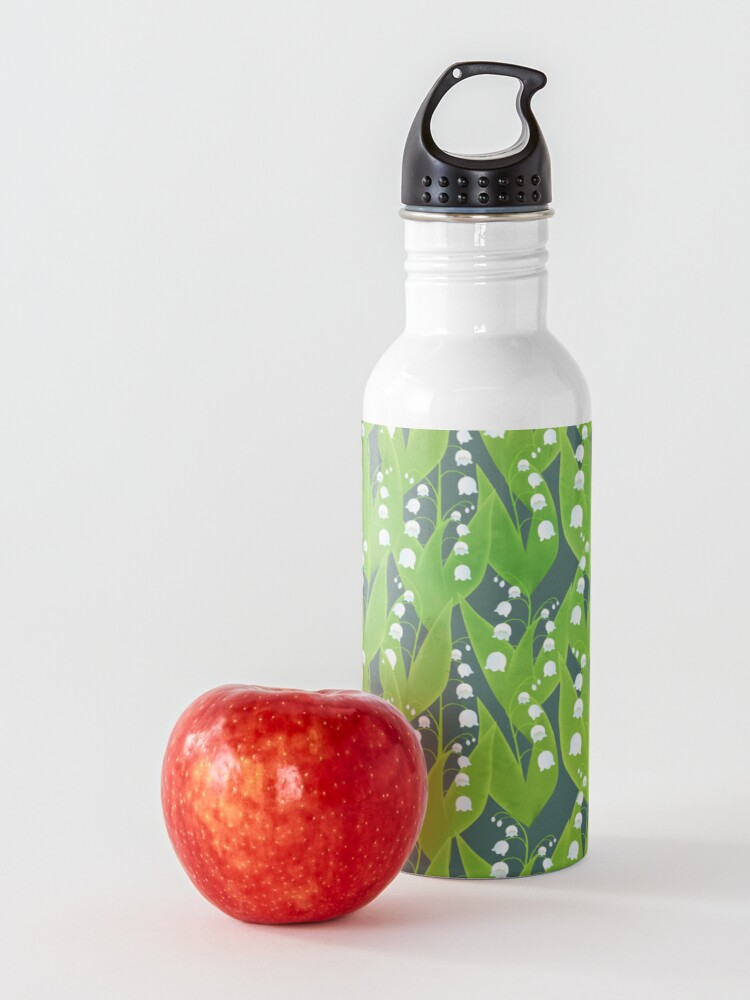 Alternate view of Lily of the Valley Floral Pattern Water Bottle