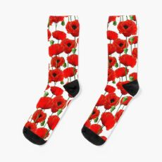 Poppy Pattern Sock