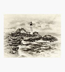 Portland Head Light Photographic Print