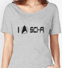 I love sci fi geek funny nerd Women's Relaxed Fit T-Shirt