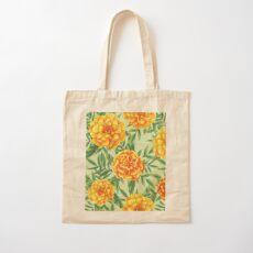 Marigold Pattern Cotton Tote Bag