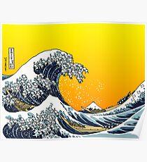The Great Wave Off Katagawa - Yell Poster