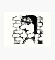 That´s not me - Scribbler #1 Art Print
