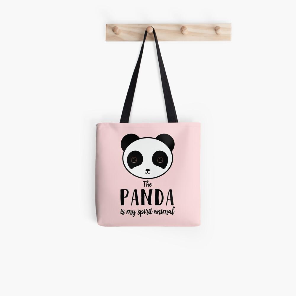 The panda is my spirit animal Type Illustration Tote Bag