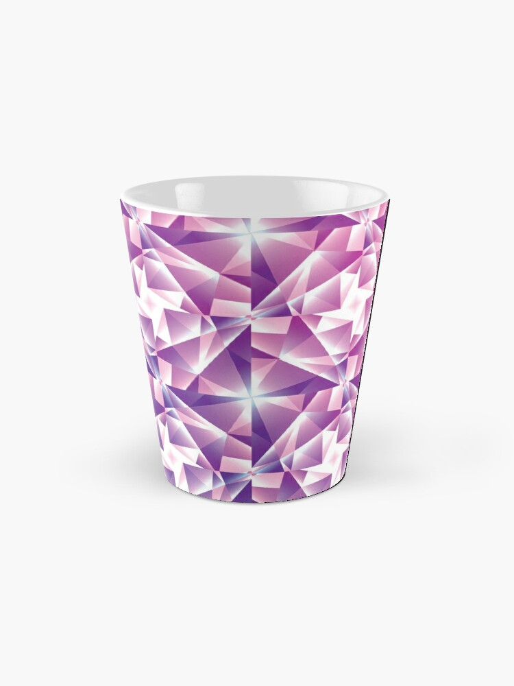 Alternate view of Purple Geometric Pinwheel Pattern Mug