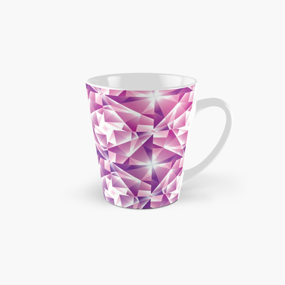 Purple Geometric Pinwheel Pattern Mug