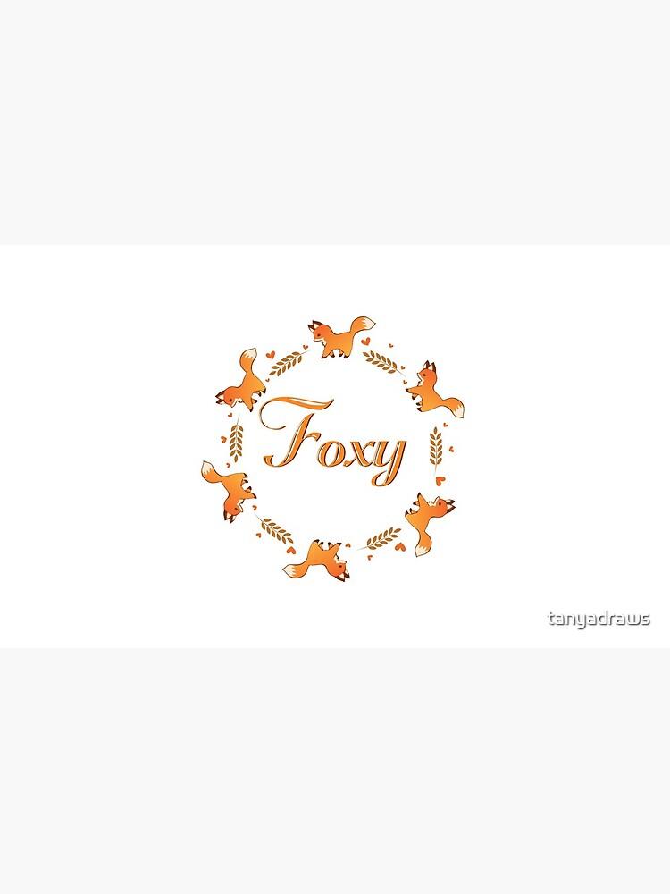 Cute Foxy Fox Wreath by tanyadraws