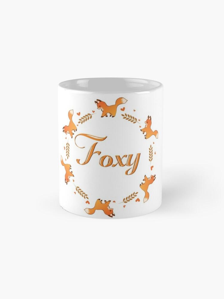 Alternate view of Cute Foxy Fox Wreath Mug