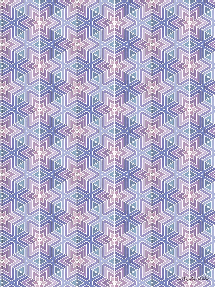 Geometric Star Maze Pattern by tanyadraws