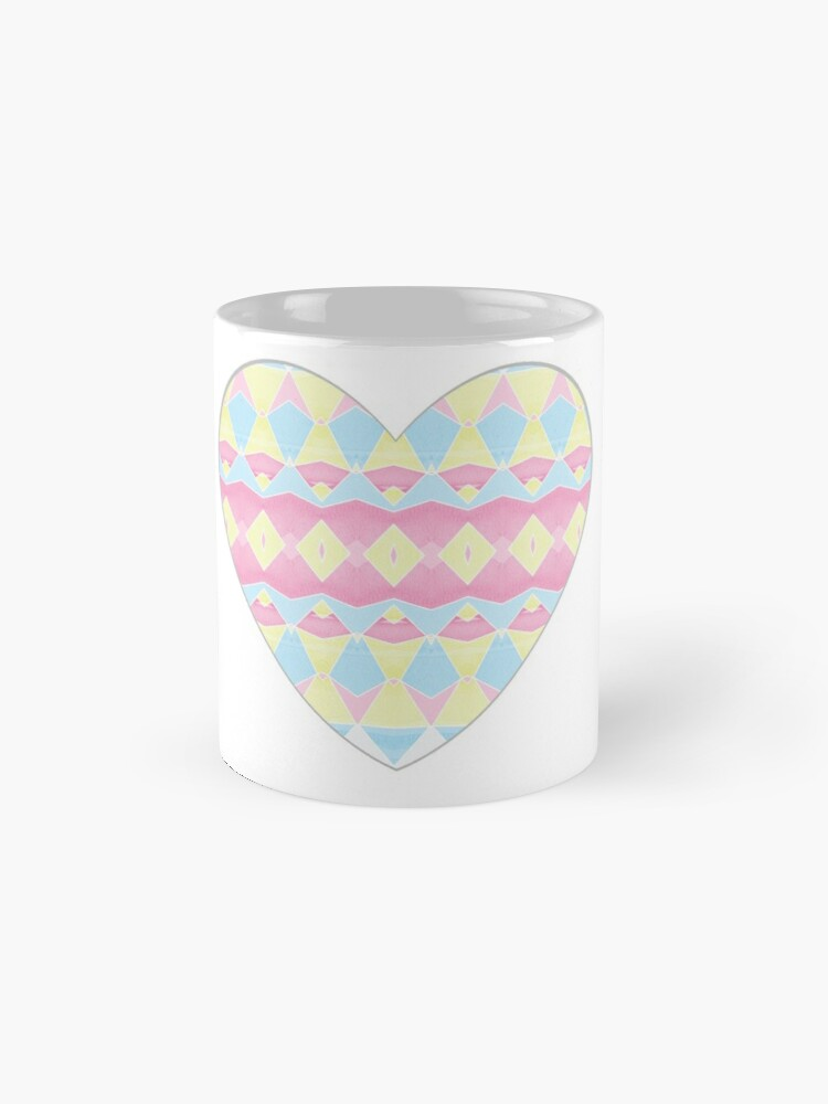 Alternate view of Geometric Pastel Watercolour Pattern Mug