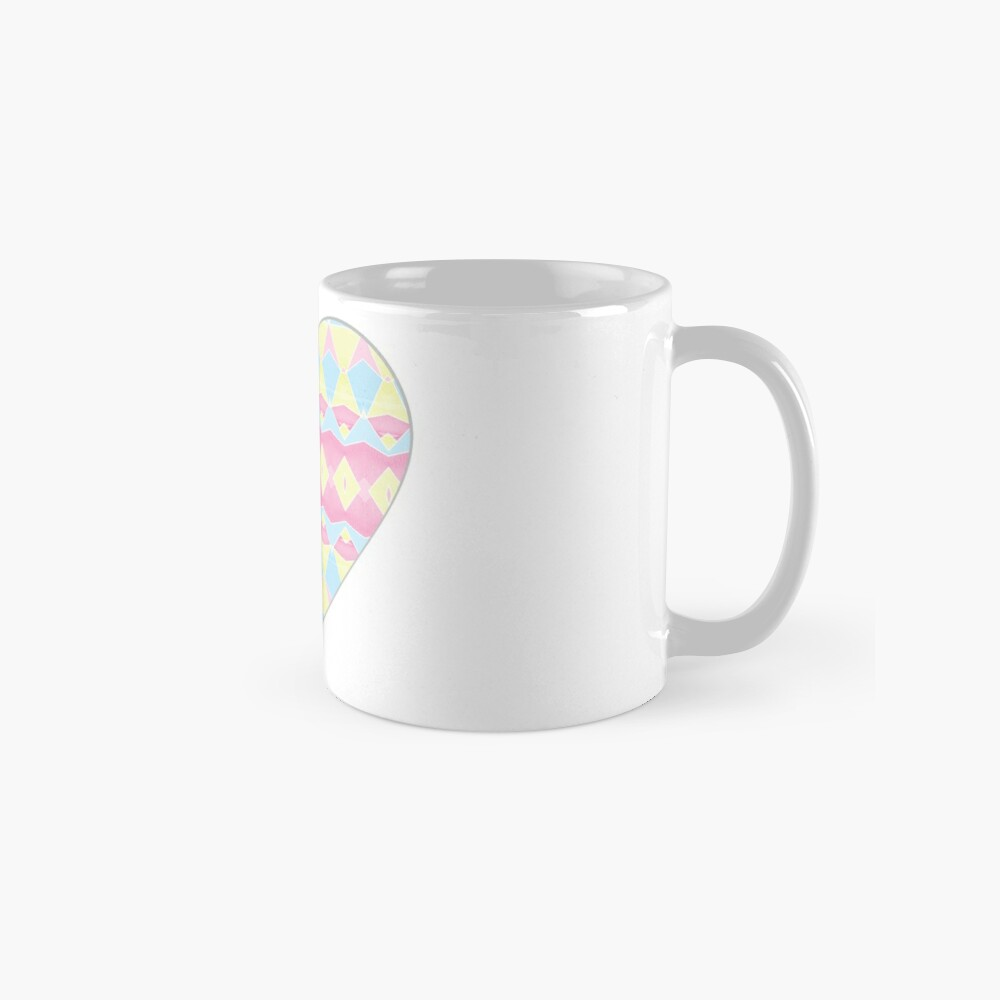 Geometric Pastel Watercolour Pattern Mug