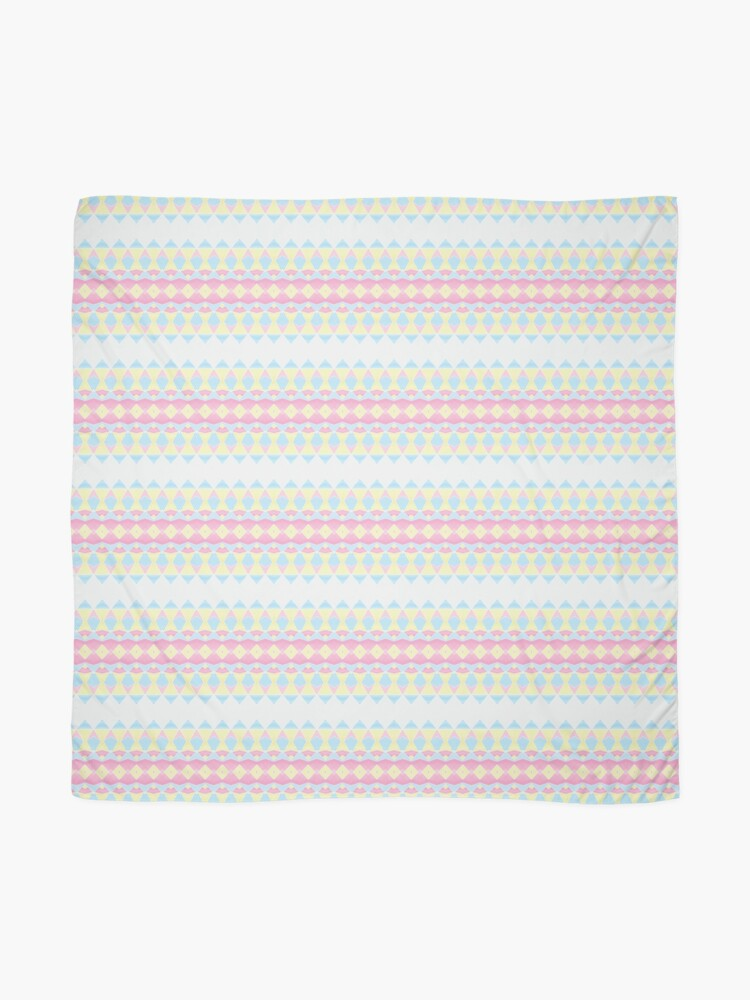 Alternate view of Geometric Pastel Watercolour Pattern Scarf