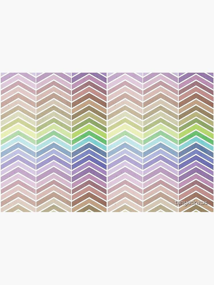 Rainbow and Textured Chevron Pattern by tanyadraws